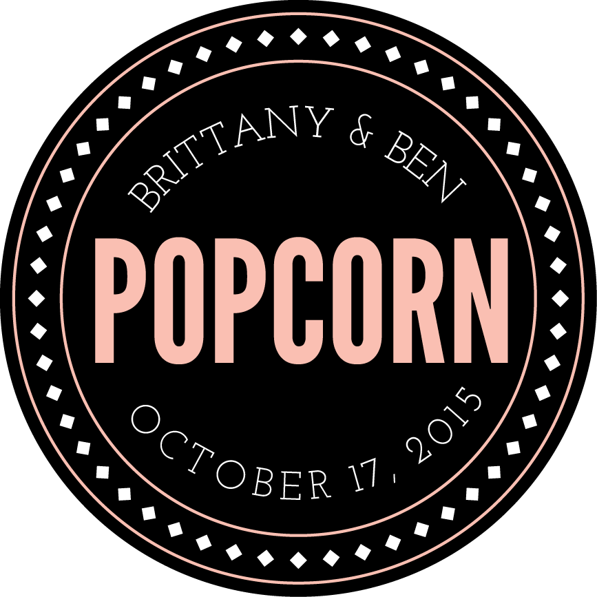 Popcorn Gift Labels