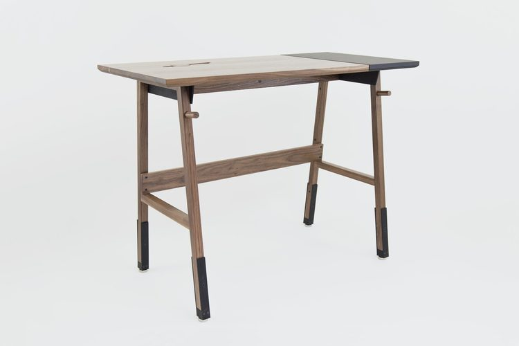 Artifox's solid hardwood standing desks add beauty to any workspace.