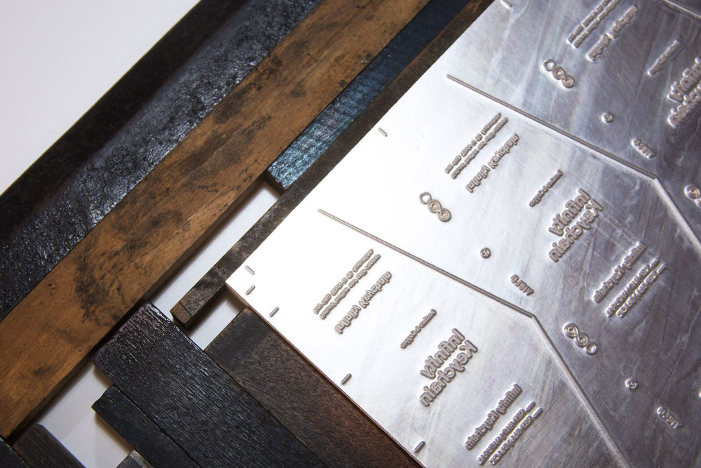 Magnesium Letterpress Plate - 3-up for efficient printing of large quantities