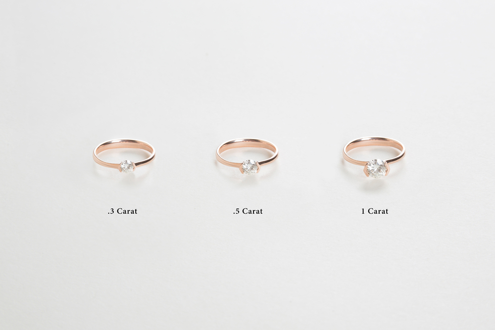 on is diamond ring how k carat much hand solitaire