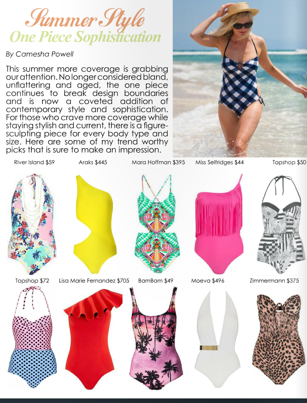 Trend Report: Summer Style (page 58-59)     Read article...