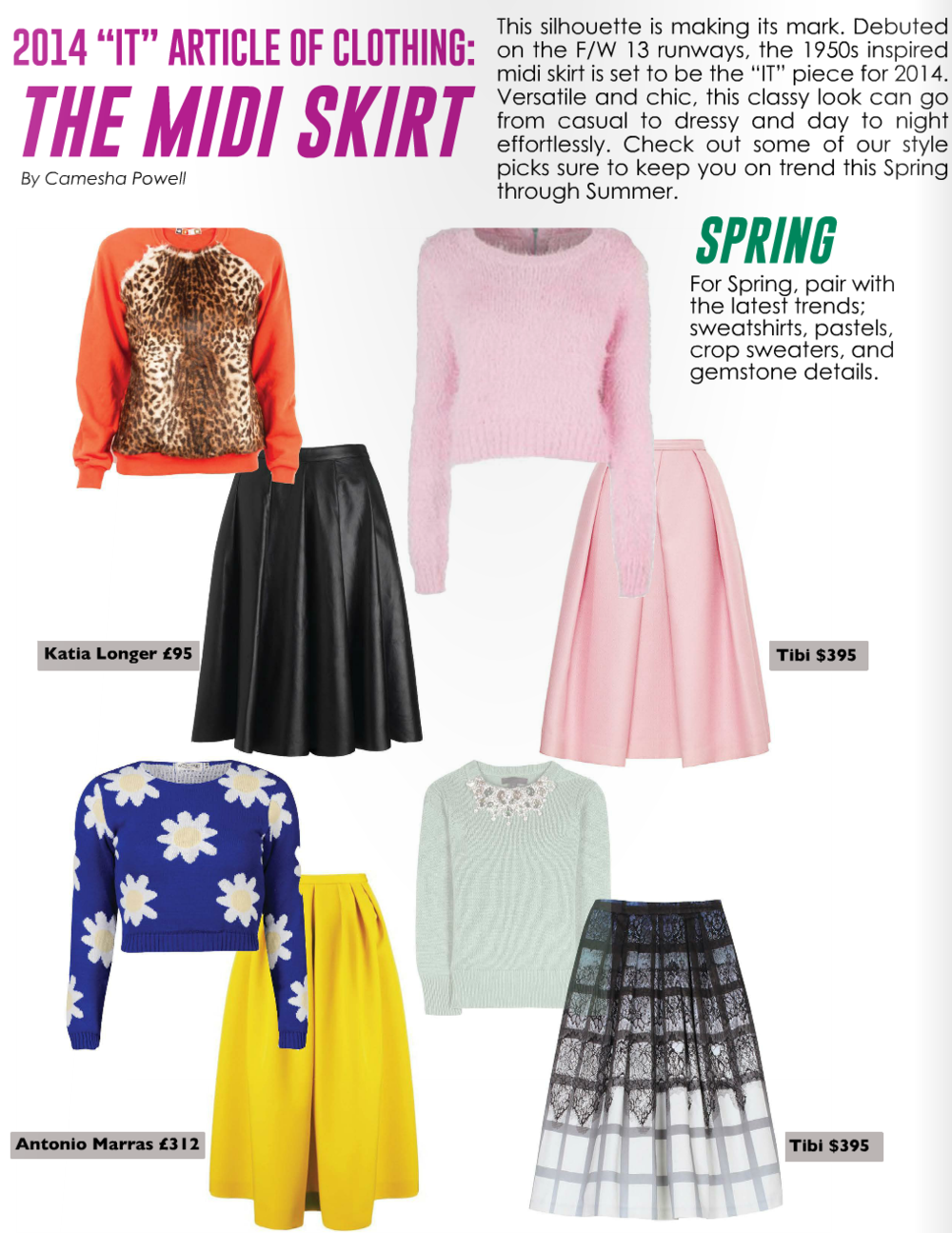 Trend Report: Midi Skirts (pages 42-43)     Read article...