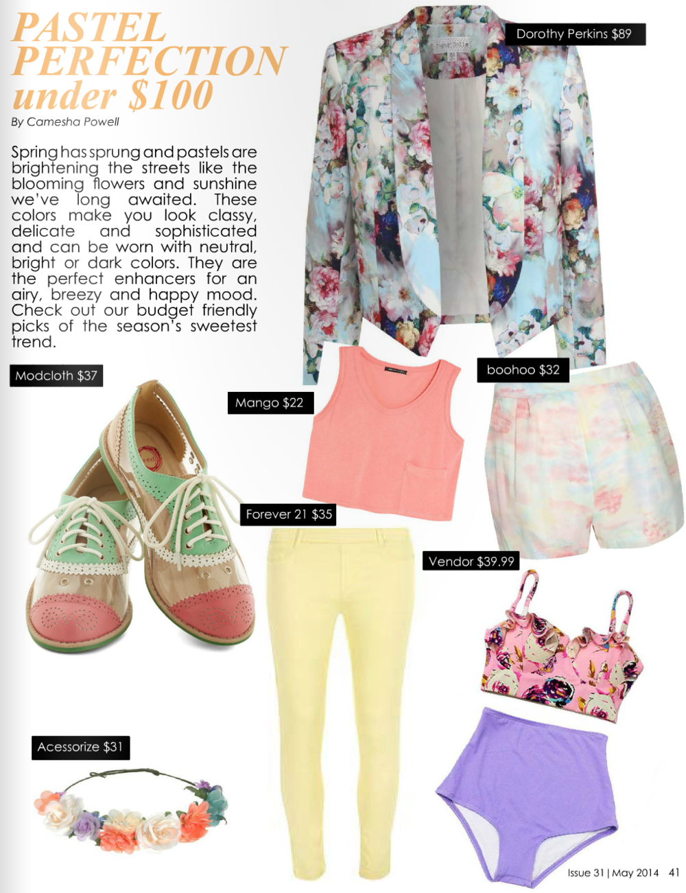 Trend Report: Pastel Perfection (pages 41-42)      Read article...