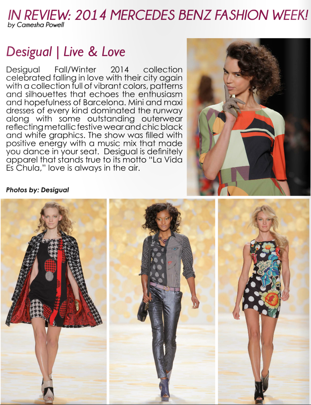 Mercedes Benz Fashion Week Review (pages 18-41)     Read article...