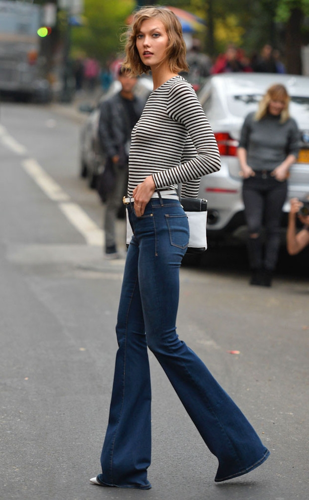 Karlie Kloss Frame Denim Flare Jeans.jpg
