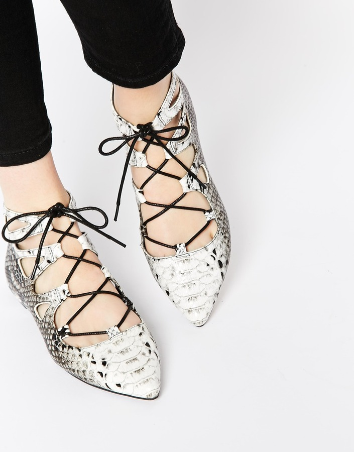 ASOS Lace-up Flats