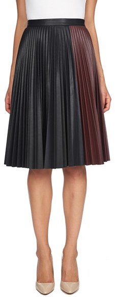 1.State Colorblock Pleat Skirt