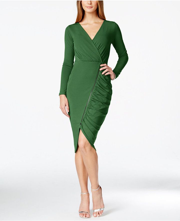 7. Rachel Roy - This cut is so flattering to almost any body type there is little effort and energy needed to pull it off. The asymmetric zipper and ruched side add a modern twist with a hint of sexy.
