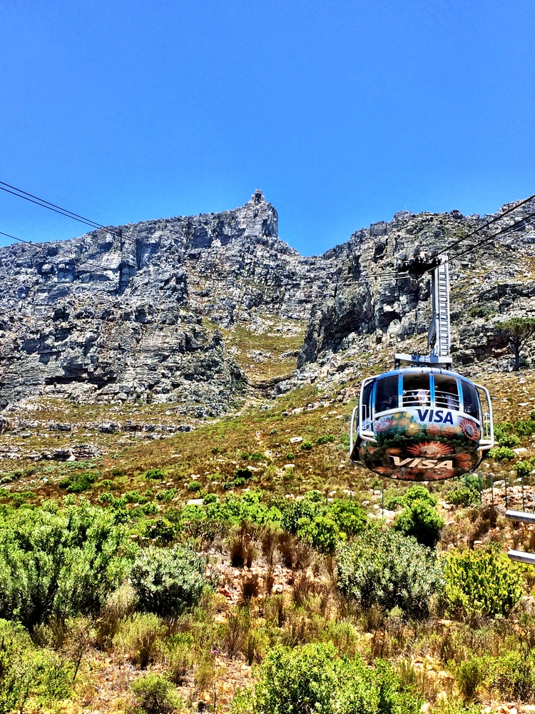 On the way up to Table Mountain