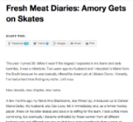 Amory Gets on Skates A blog post about what drove me to play roller derby