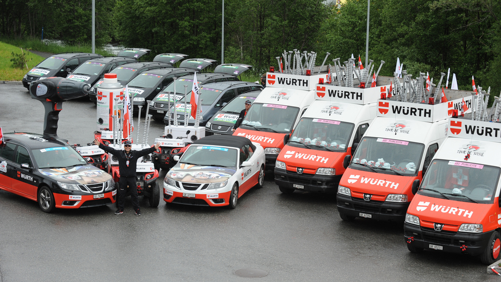 Tour de Suisse Fahrzeugflotte