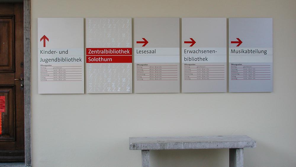 Orientierungs- Informationsschilder
