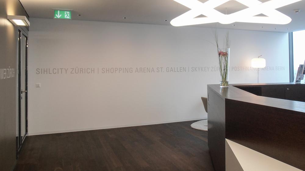 Empfangsraum Swiss Prime Site