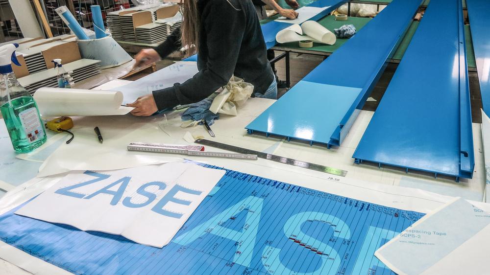 Montage - Folien direkt auf Panelen montiert