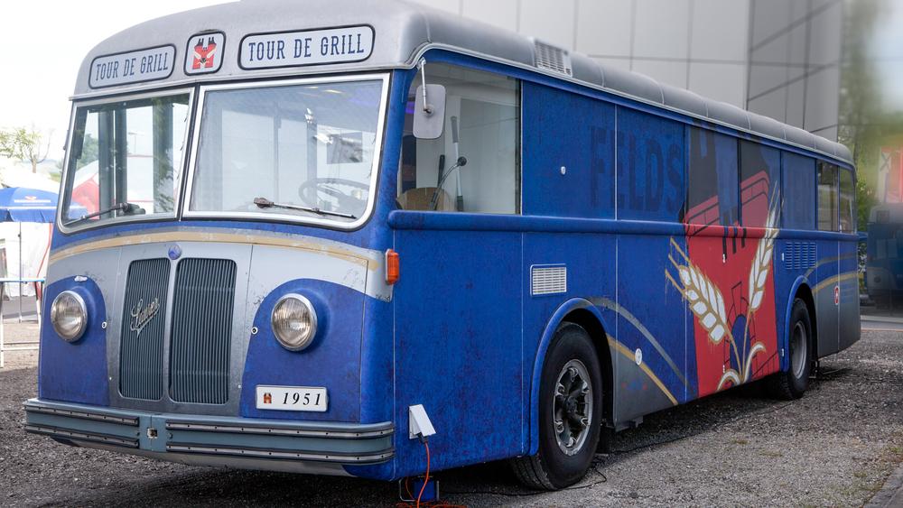 Oldtimer Bus für Grillevents