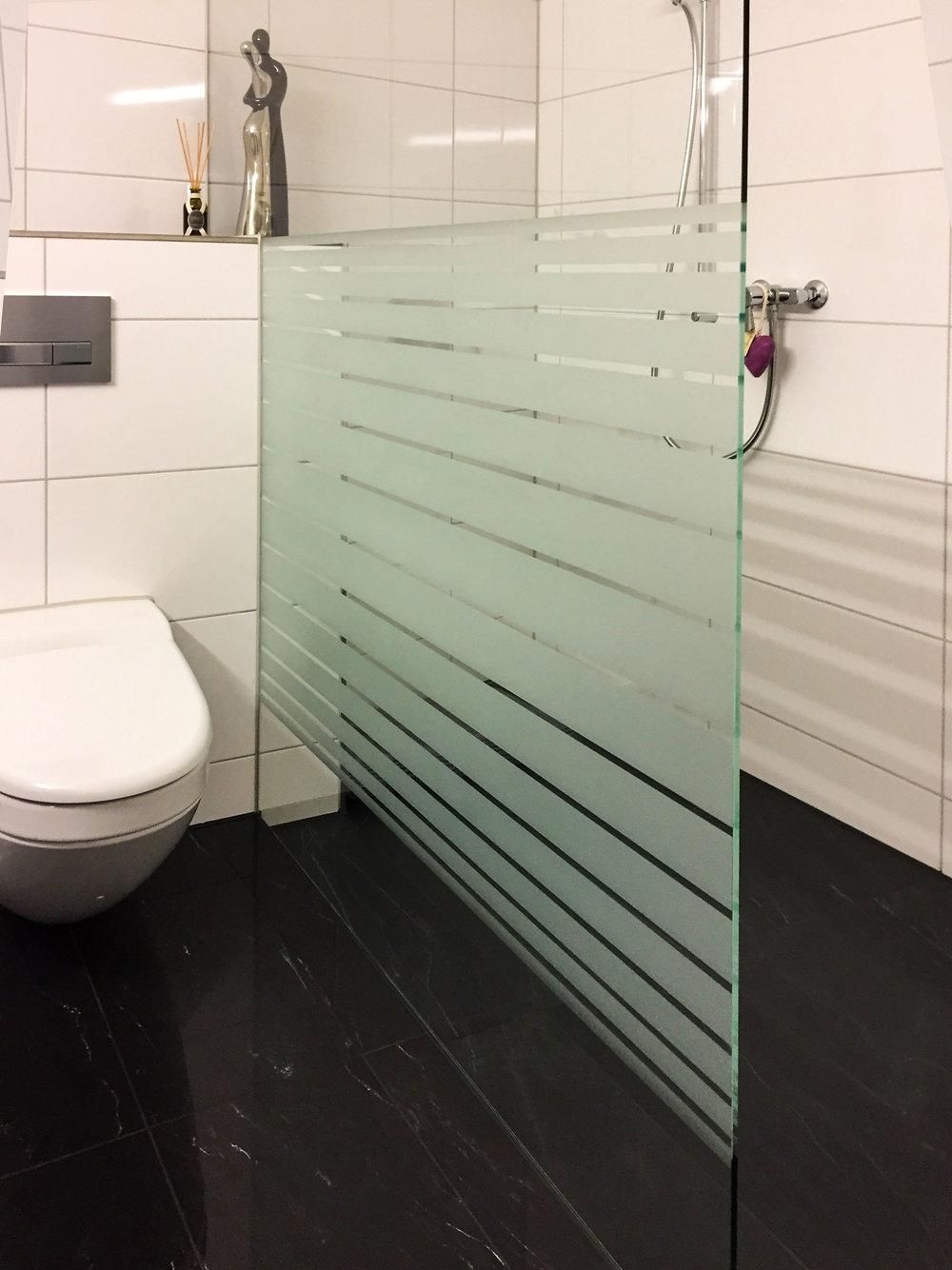 Sichtschutz im Badbereich