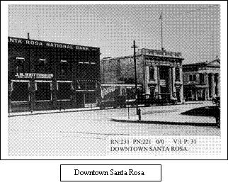 Downtown Santa Rosa, circa 1856