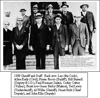 Sonoma County Sheriff and Staff, Circa 1939