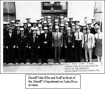 Sonoma County Sheriff and Staff, Circa 1950