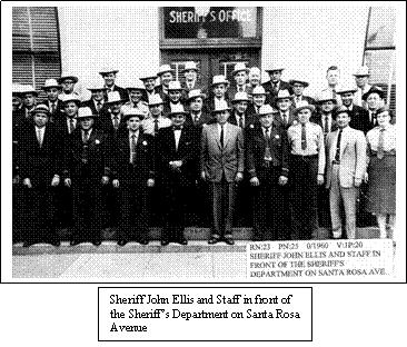 Sonoma County Sheriff and Staff, Circa 1950