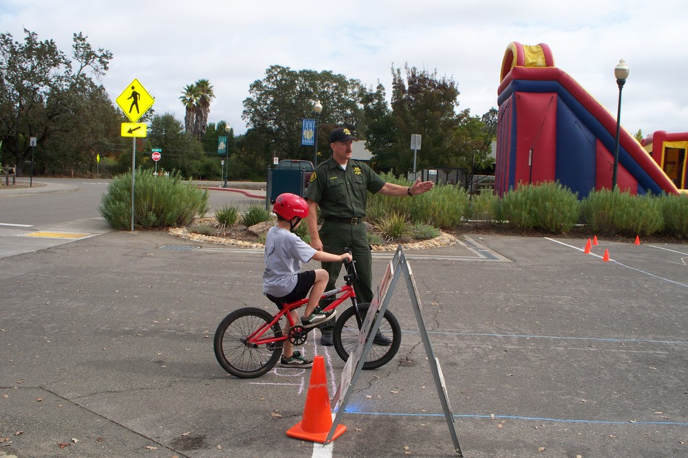 cso mikan hosting a bicycle rodeo