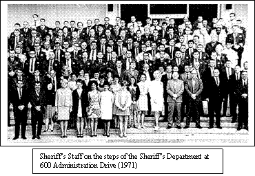 Sonoma County Sheriff and Staff, Circa 1965