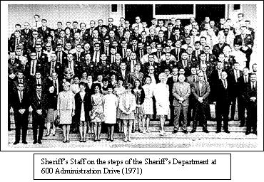 Sonoma County Sheriff and Staff, Circa 1965