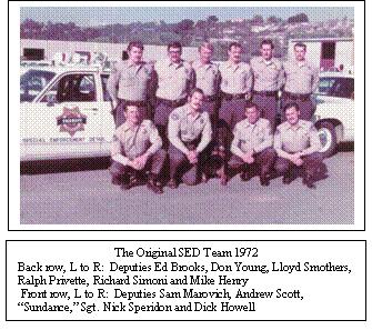 Special Enforcement Detail Team members, 1972