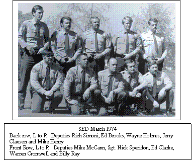 SPECIAL ENFORCEMENT DETAIL TEAM MEMBERS, 1974