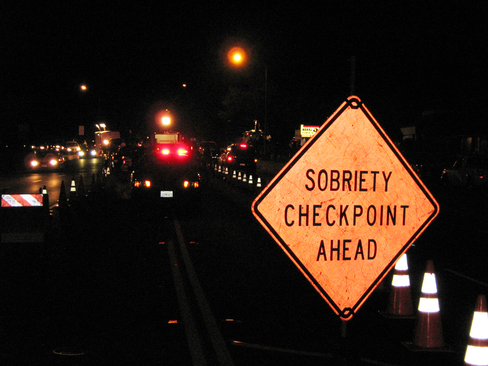 Nighttime sobriety checkpoint services provided to the community by Sheriff's Office.
