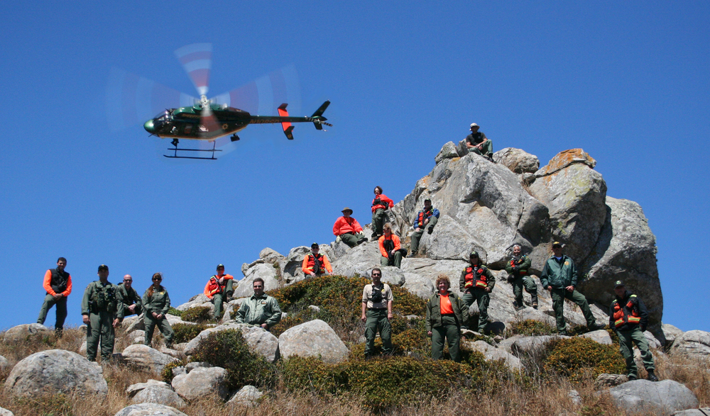 Henry 1 and the SAR team pose for a photo op at another amazing Sonoma County terrain.