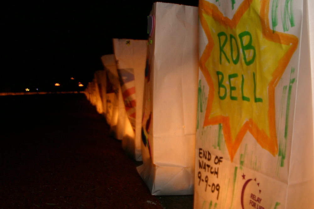 Honoring and remembering those who have battled cancer at a local Relay for Life event.