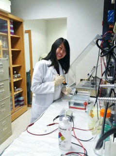 ILS student doing molecular biology research.
