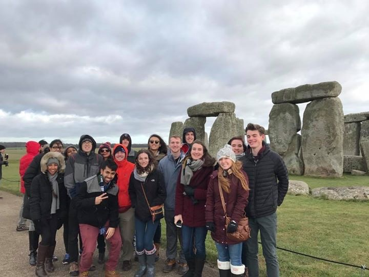 ILS students in front of Stonehenge during their British Masters of science course.