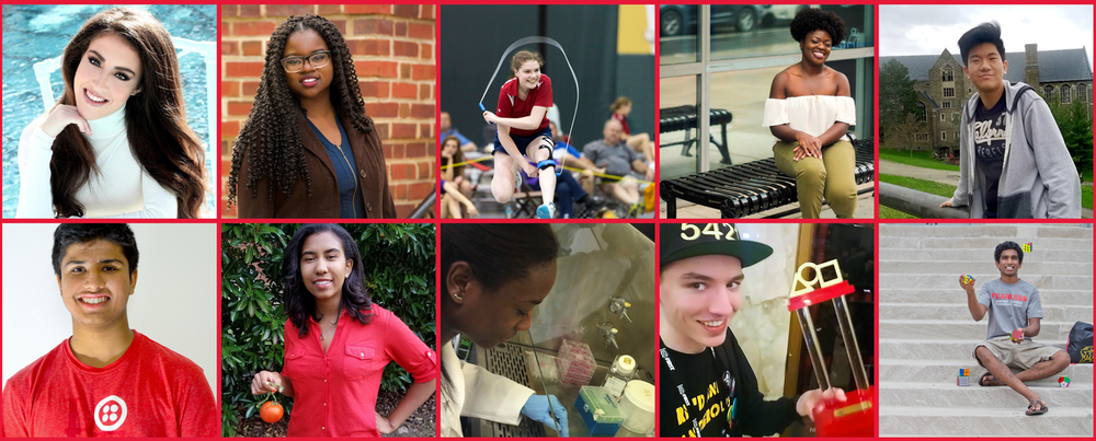 Pictures of ten different UMD students that Terp Magazine highlighted in their fall 2017 issue.