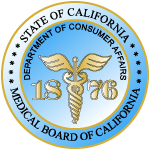 State of CA Medical Board of CA