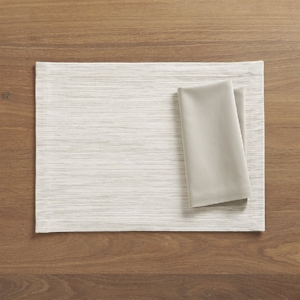Grasscloth White Placemat
