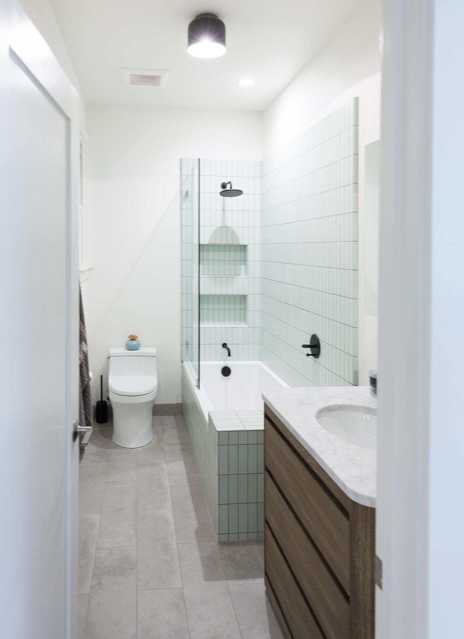 Modern Bohemian Kitchen Bathroom With Heath Blue Tile 1