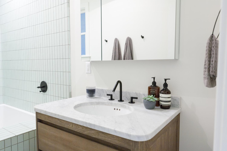 Modern Bohemian Kitchen Bathroom With Heath Blue Tile 2