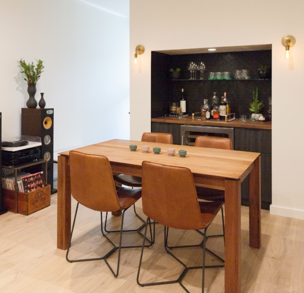 AFTER: Home Bar & Entertaining Area