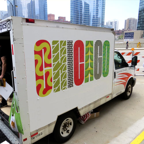 As an   AIGA Chicago   agency of record, we were honored to collaborate with   Someoddpilot   to develop branding for the   2016 Guerilla Truck Show   @ Neocon.