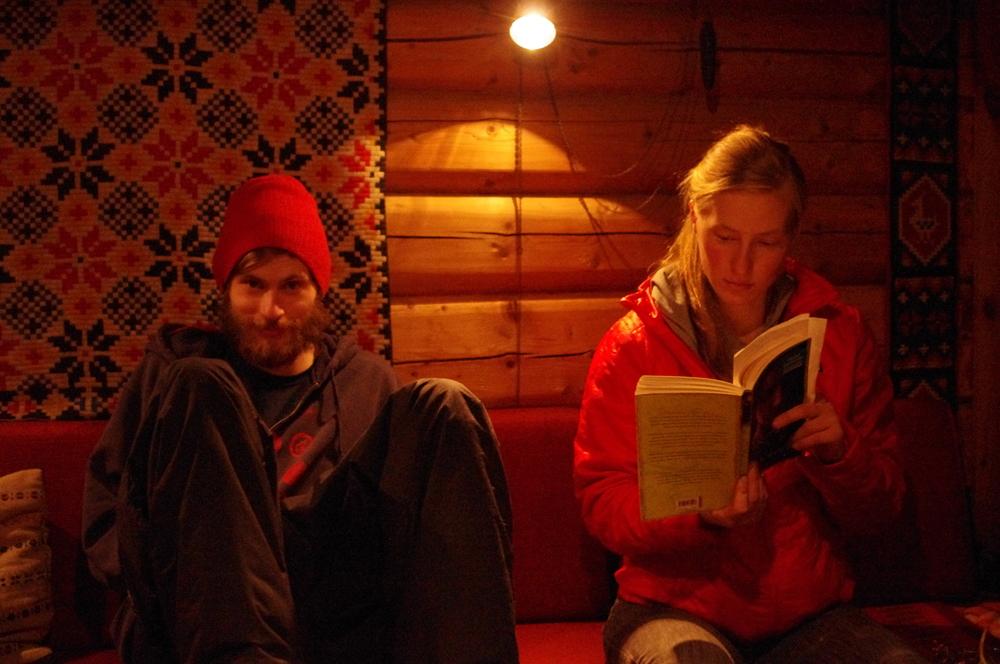 Marius and Erika, the dizygotic printmaking twins, Dovrefjell, 2012.
