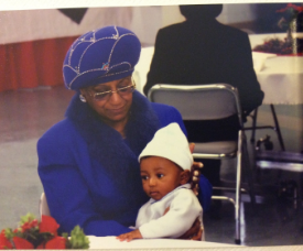 Dr. Weptanomah Carter and her grandson, Henry