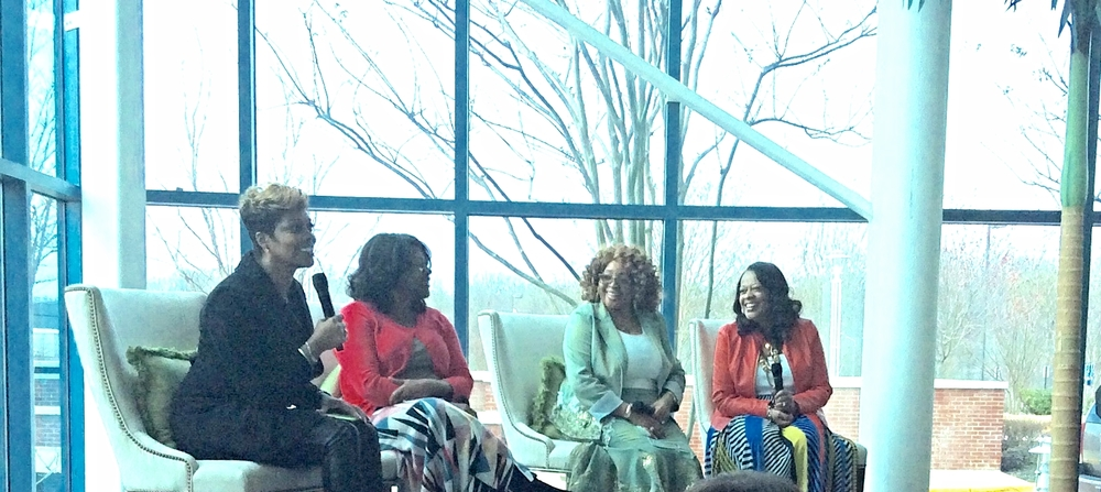 l-r First Ladies, DeeDee Freeman, Trina Jenkins, Co-Pastor Susie Owens and First Lady Peggy Maclin