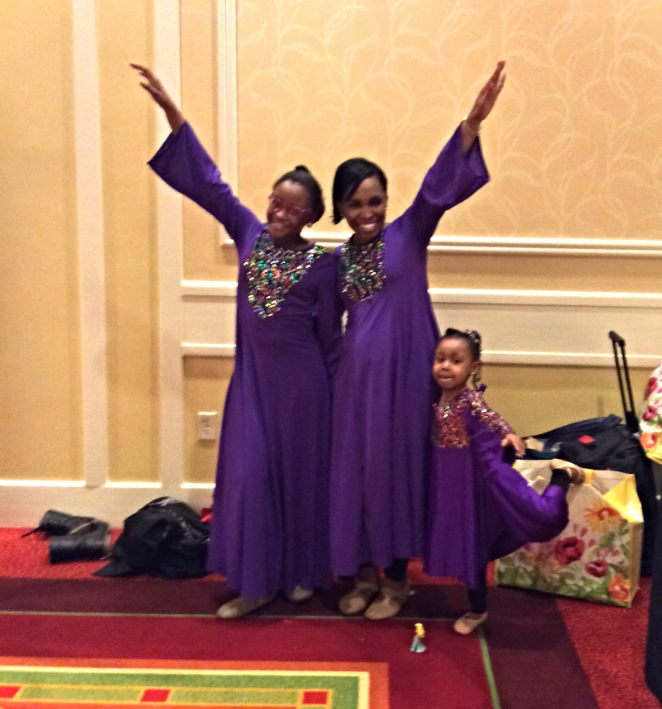 the outstanding Liturgical Praise Dancers, Mrs. Staci Loftin Roberts and her daughters