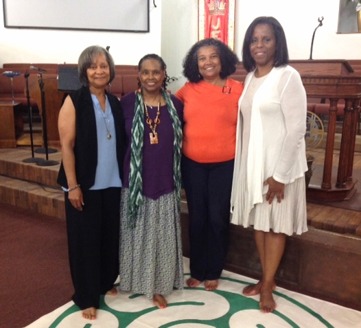 l-r Deacon Naomi Powell, Rev. Goldie Walker, Rev. Altheria Barnett and Rev. Dudley