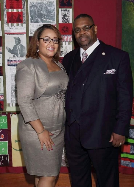 First Lady Bell with her husband Overseer Eric Bell                                           photo credit KC's Portraits Ken Riddick