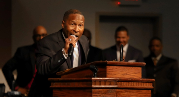 Preach Pastor Davis! Photo: Anthony Moore