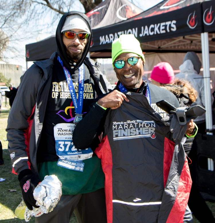 Joel Price & Pastor Davis with their medals, relieved & happy photo credit: Anthony Moore