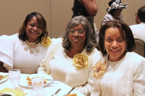 having a good time w/ Mrs. Andrea Logan center &  First Lady Donnetta Logan